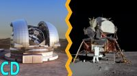 Why can't we see the Apollo lunar landers from Earth ?